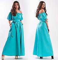 Женское платье летнее с рукавом фонарик