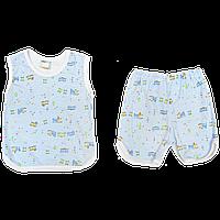 Костюмчик для мальчика: майка и шортики, тонкий хлопок; ТМ Бимс, р.80
