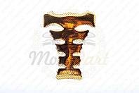 "Наклейка на бак ""YAKUZA"" (силикон, карбон желтый) (#5019) (код товара N-2145)"