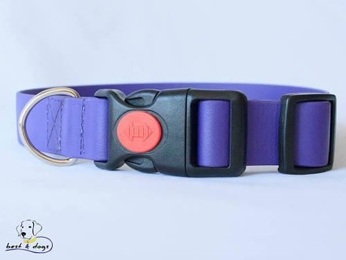 Ошейник из биотана, Фиолетовый, 25мм(пластик.фастекс)