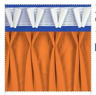 Тесьма шторная прозрачная V-образная складка, ширина тесьмы 17 см