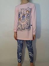 Комплект туника+лосины трикотажные для девочки р.116-146 F&D