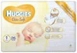 Подгузник для новорожденных Huggies Elite Soft 1 (0-5 кг) 26 штук