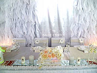 Оформление свадьбы в белом цвете