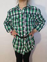 Рубашка-туника с длинным рукавом для девочки р.М, L, XL