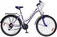 """Велосипед 26"""" Formula OMEGA AM 14G Vbr St с багажн. 2016 бело-синий (код товара OPS-FR-26-112-1)"""