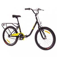 "Велосипед 20"" Dorozhnik FUN 14G St с багажн. черно-желтый (м) 2016 (код товара OPS-D-20-008-1)"
