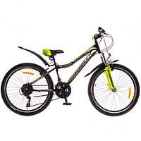 """Велосипед 24"""" Formula FOREST AM 14G Vbr St 2016 черно-зеленый (код товара OPS-FR-24-031-1)"""