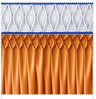Тесьма шторная тканевая Соты крупные, ширина 17 см