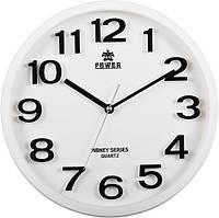 Часы настенные POWER PW916WKS (330x330x54 мм) [Пластик]