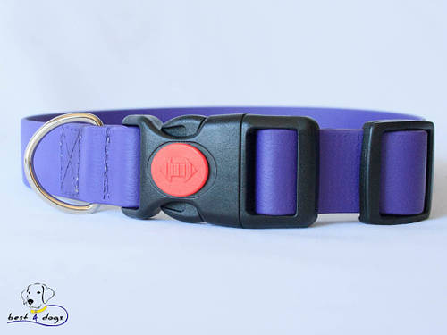 Ошейник из биотана, Фиолетовый, 19мм(пластик.фастекс)