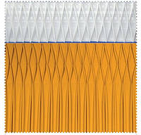 Тесьма шторная тканевая Ромб мелкий, ширина 17 см
