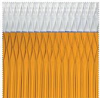 Тесьма шторная тканевая Соты двойная складка, ширина 17 см