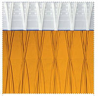 Тесьма шторная тканевая Двойная V-образная складка, ширина 17 см