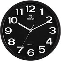 Часы настенные POWER PW916BKS (330x330x54 мм) [Пластик]