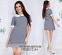Прямое платье с чёрно-белым принтом
