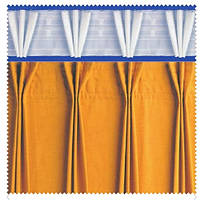 Тесьма шторная тканевая Куриная лапка, ширина 17 см
