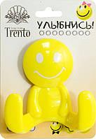 Trento Крючок двойной пластик желтый
