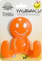 Trento Крючок двойной пластик оранжевый