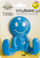 Trento Крючок двойной пластик синий