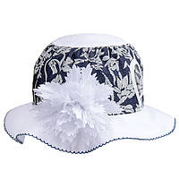 Летняя шляпка для девочки с цветком