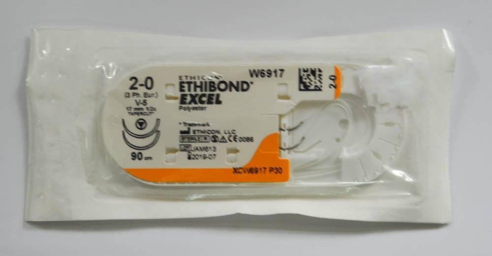 Хирургическая нить ETHIBOND EXCEL  USP 2/0 W6917