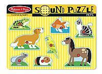 Звуковой пазл Melissa & Doug Домашние животные (MD730)
