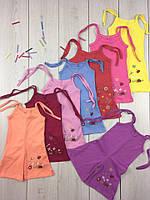 Летний комбинезон песочник с шортами для девочки Стрекоза, хлопок, р.р. 26-36