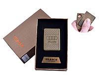 """USB зажигалка в подарочной упаковке """"AUDI"""" №4693A-3"""