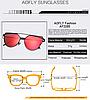 Солнцезащитные очки женские AOFLY поляризованные. Красные, фото 3