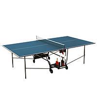 Теннисный стол для помещений синий Donic Indoor Roller 400 для дома и спортзала