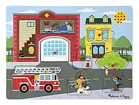 Звуковой пазл Melissa & Doug Пожарная часть (MD10736)
