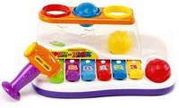 """Детский ксилофон """"Бряк-Звяк"""" 2в1, Joy Toy, 9199"""