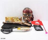 Пиратский набор, сабля, маска, флаг, накидка, мушкет,  ZP3555