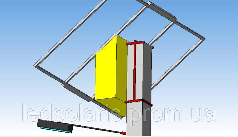 Система крепления автономной системы на бетонную опору