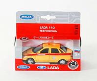"""Машина Welly  """"LADA 110"""" техпомощь, металлическая,  42385TA"""