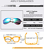 Солнцезащитные очки авиаторы AOFLY. Унисекс, фото 3