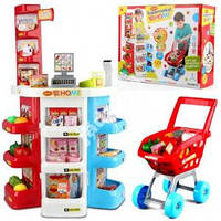 Игровой набор Магазин, касса с продуктами, тележка, музыка, 668-20