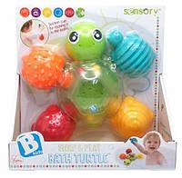 """Развивающая игрушка-конструктор  для купания """"Черепашки"""" Sensory (005359S)"""