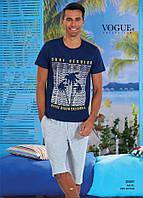 Комплект летний 2-ка футболка с шортами Турция. VOGUE 30001-R. Размер  L.