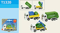 Игрушечная машина металлическая, 3 вида, мусоровоз, T1320