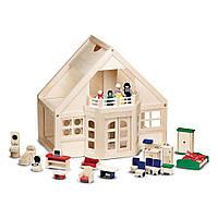 Меблированный деревянный домик с куклами Melissa&Doug (MD795)