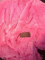 """Покрывало-плед  из искусственного меха """"Мишка"""" 220 на 240 Розового цвета."""