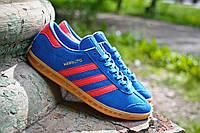 Кроссовки Adidas Hamburg синие с красным 41-45 рр
