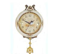 Настенные часы с золотистым декором маятниковые