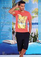 Комплект летний 2-ка футболка с шортами Турция. VOGUE 30004-R. Размер  L.
