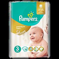 Подгузники Pampers Premium Care Размер 3 (Midi) 5-9 кг, 20 шт