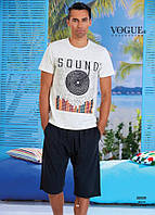 Комплект летний 2-ка футболка с шортами Турция. VOGUE 30008-R. Размер  L.