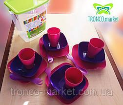 Набор посуды  для пикника на 4 персоны в емкости, фото 2