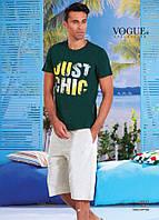 Комплект летний 2-ка футболка с шортами Турция. VOGUE 30013-R. Размер  L.